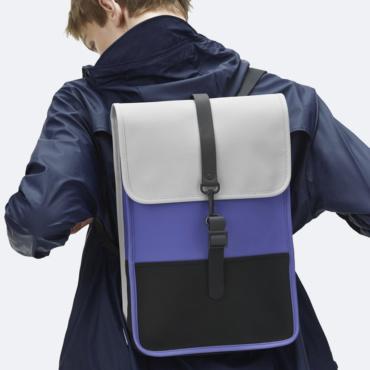 rains backpack mini lilac / black / stone