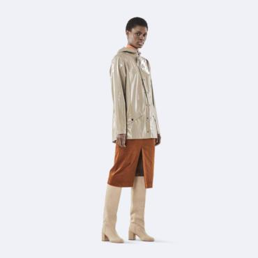 rains holographic jacket beige