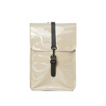 rains holographic backpack mini beige