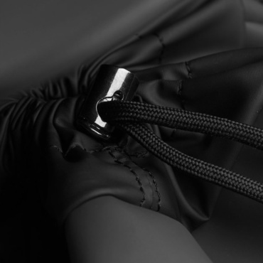 rains drawstring backpack black