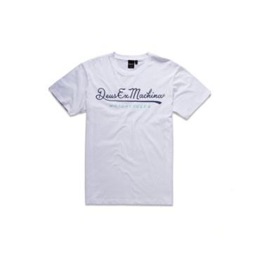 deus 2nd base tee white