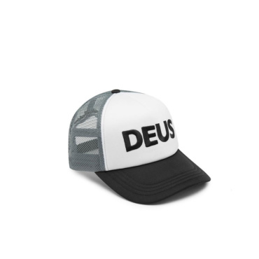 deus caps trucker black grey
