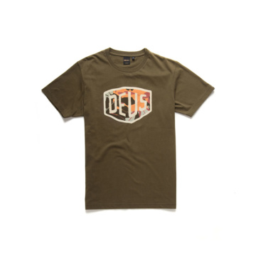 deus chulo shield tee dark olive