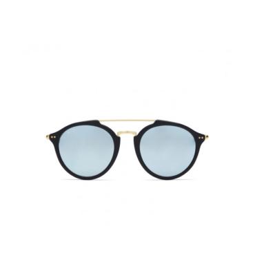 kapten & son sunglasses fitzroy matt black blue mirrored
