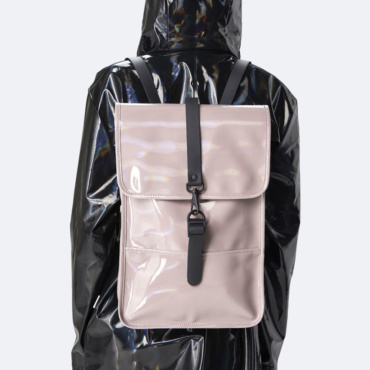 rains holographic backpack mini woodrose