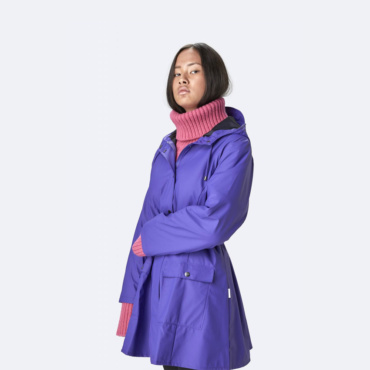 rains curve jacket lilac