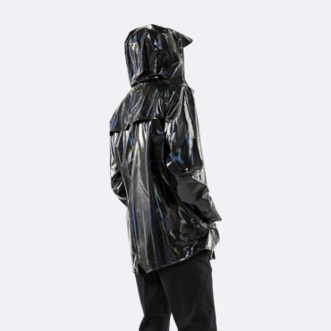 rains holographic jacket black