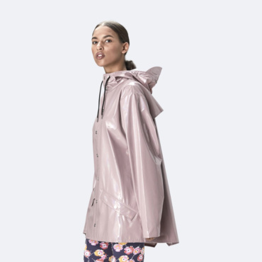 rains holographic jacket woodrose