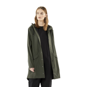 rains long jacket green