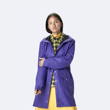 rains long jacket lilac