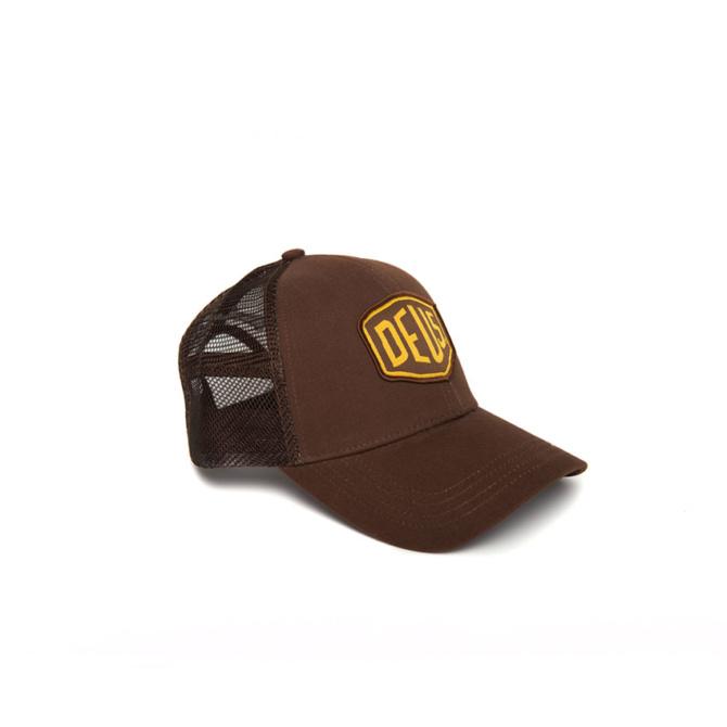deus woven shield trucker brown