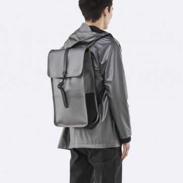 rains backpack metallic charcoal