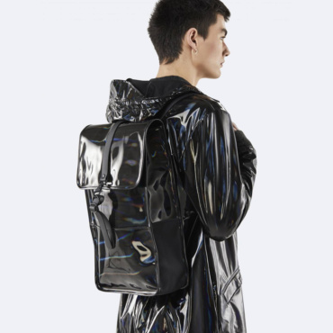 rains holographic backpack black