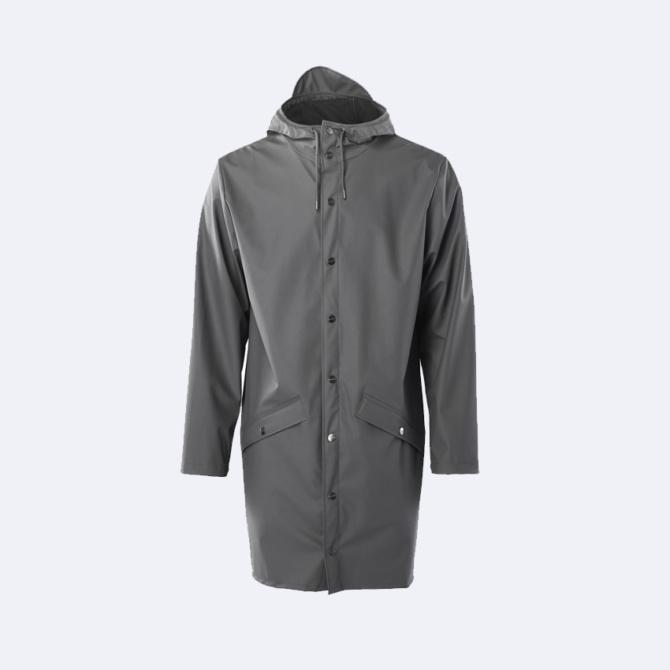 rains long jacket charcoal