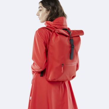 rains rolltop rucksack red