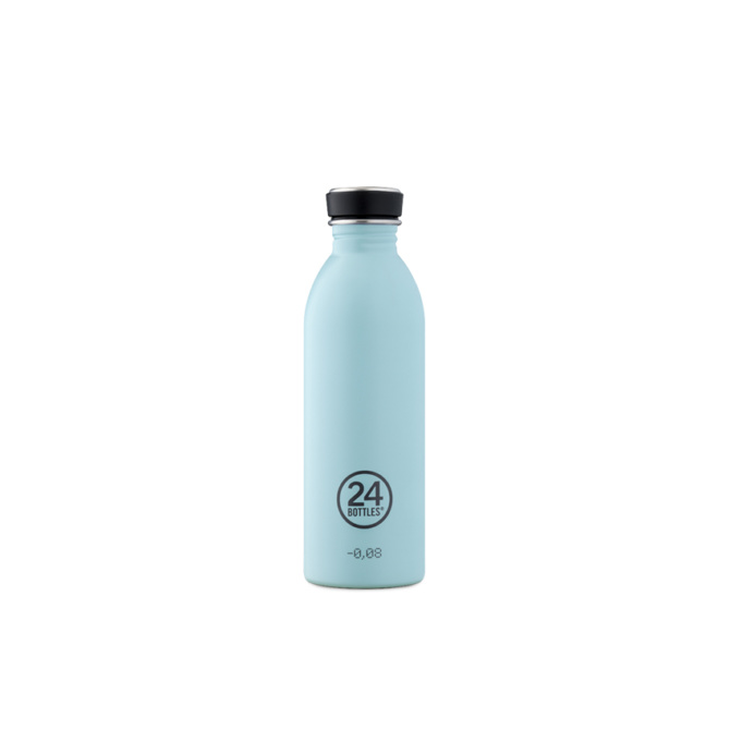 24 bottles urban bottle 500ml cloud blue