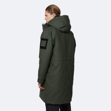 rains glacial coat green