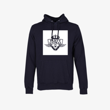 party animal signature hoodie deep black