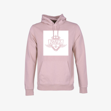 party animal signature hoodie faded pink
