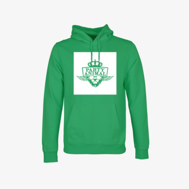party animal signature hoodie kelly green