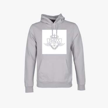 party animal signature hoodie limestone grey
