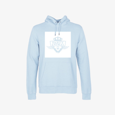 party animal signature hoodie polar blue
