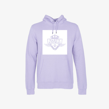 party animal signature hoodie soft violet