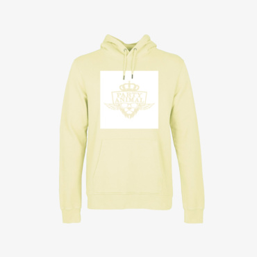 party animal signature hoodie soft yellow