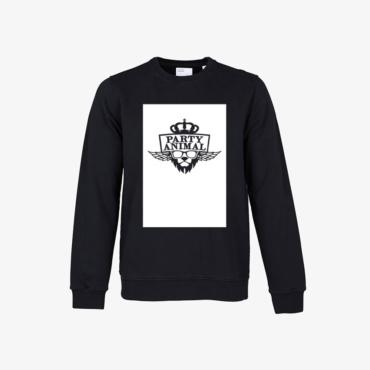 party animal signature sweatshirt deep black