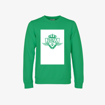 party animal signature sweatshirt kelly green