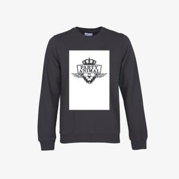 party animal signature sweatshirt lava grey