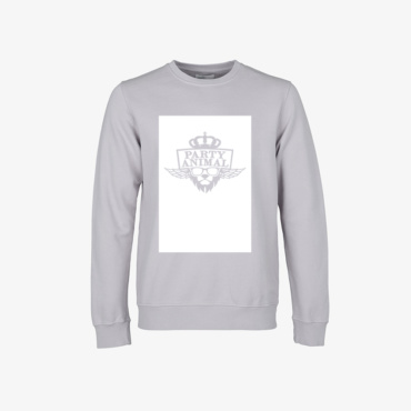 party animal signature sweatshirt limestone grey