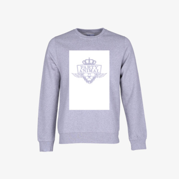 party animal signature sweatshirt melange grey