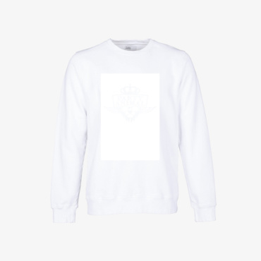 party animal signature sweatshirt optical white