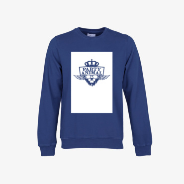 party animal signature sweatshirt royal blue