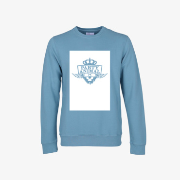 party animal signature sweatshirt stone blue
