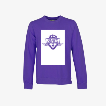 party animal signature sweatshirt ultra violet