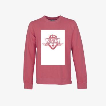 party animal signature sweatshirt vintage pink