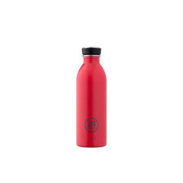 24 bottles urban bottle 500ml hot red