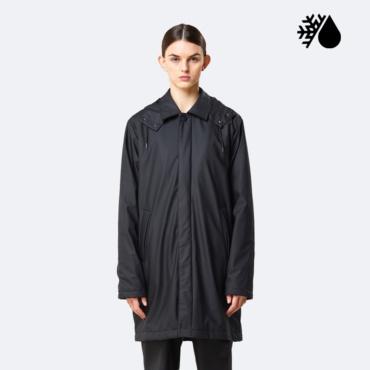 rains mac coat black
