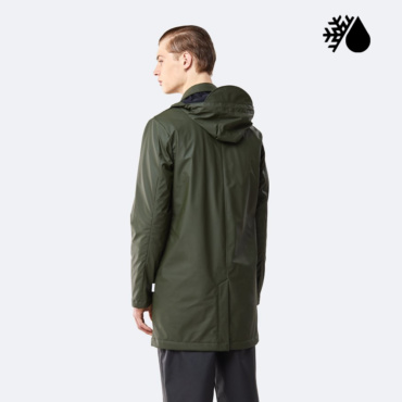 rains mac coat green