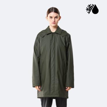 rains mac coat green