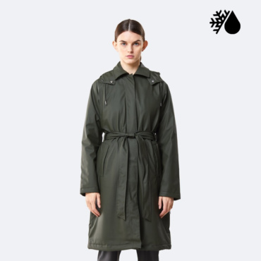 rains w trench coat green