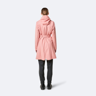 rains curve jacket coral