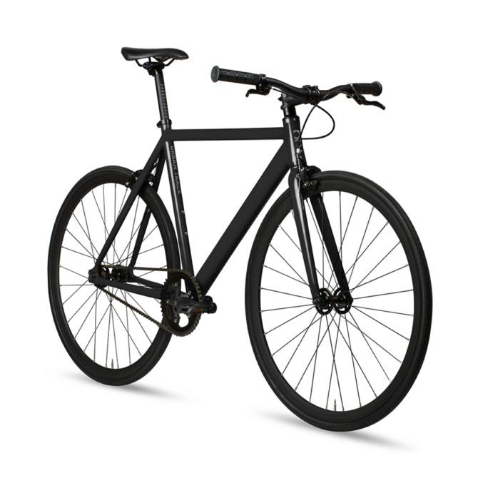 6ku track fixie single speed bike black
