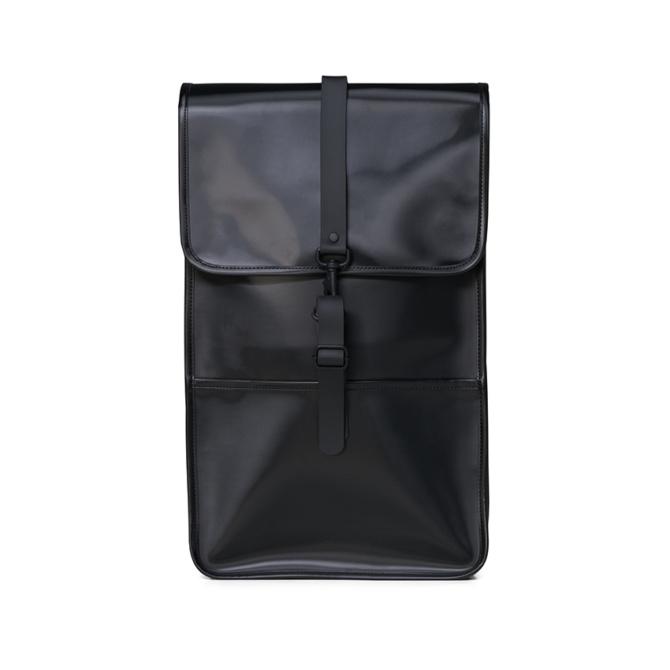 rains backpack shiny black