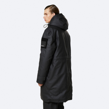 rains glacial coat black