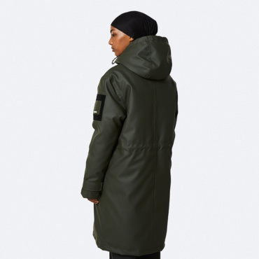 rains glacial coat green