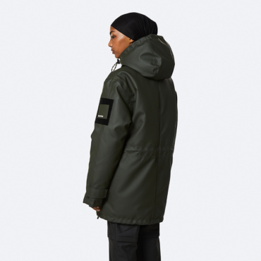 rains glacial parka green