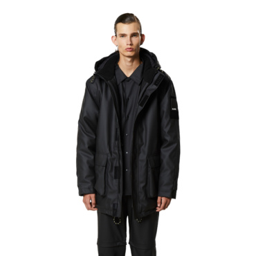 rains glacial parka black